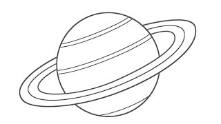 How to draw a cartoon planet saturn