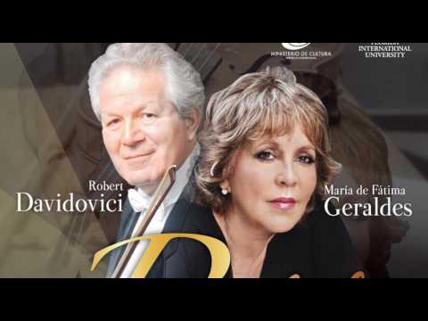 Recital de violín y piano con Robert Davidovici y María de Fátima Geraldes