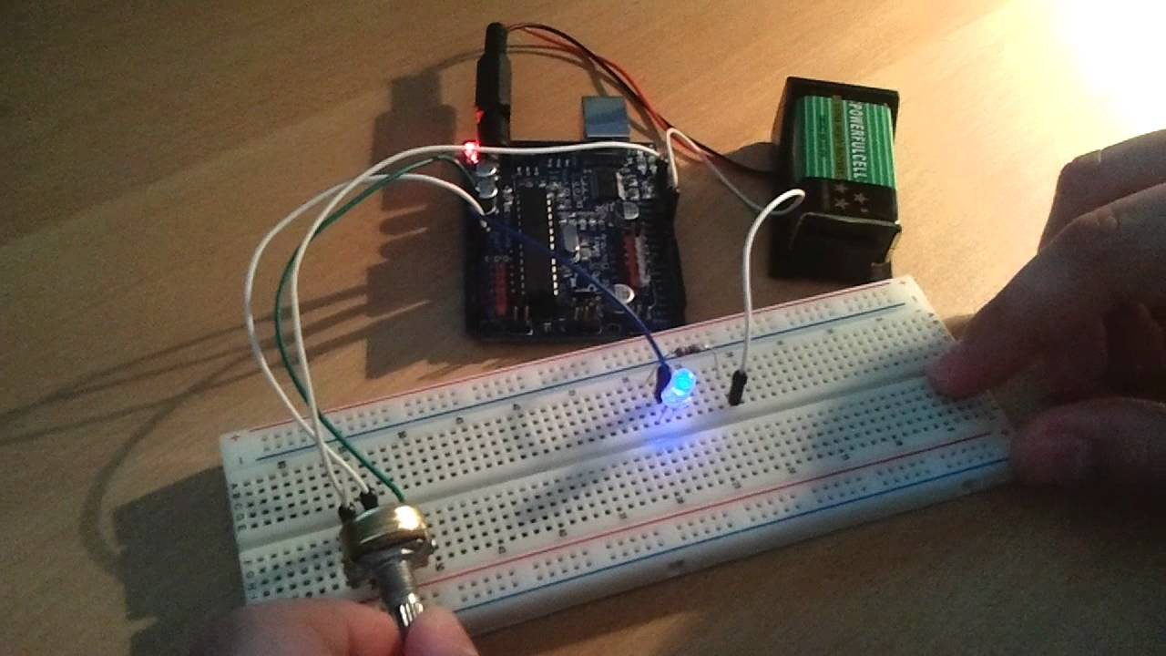 how to add a potentiometer that changes a variable arduino
