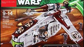 Обзор на лего звёздные войны Republic Gunship 75021