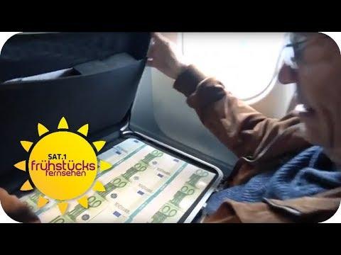 So einfach ist der GEPÄCKDIEBSTAHL & SCHMUGGEL am AIRPORT FRANKFURT | SAT.1 Frühstücksfernsehen | TV