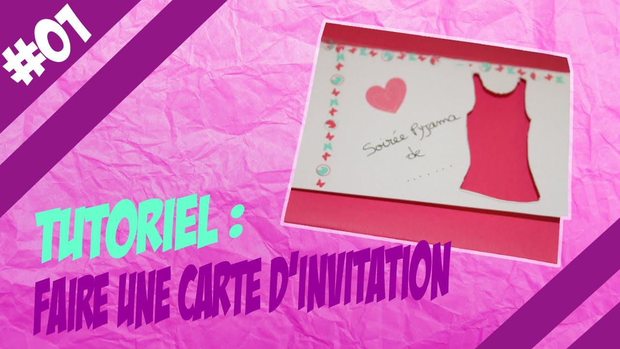 tuto 1 carte d invitation soiree pyjama