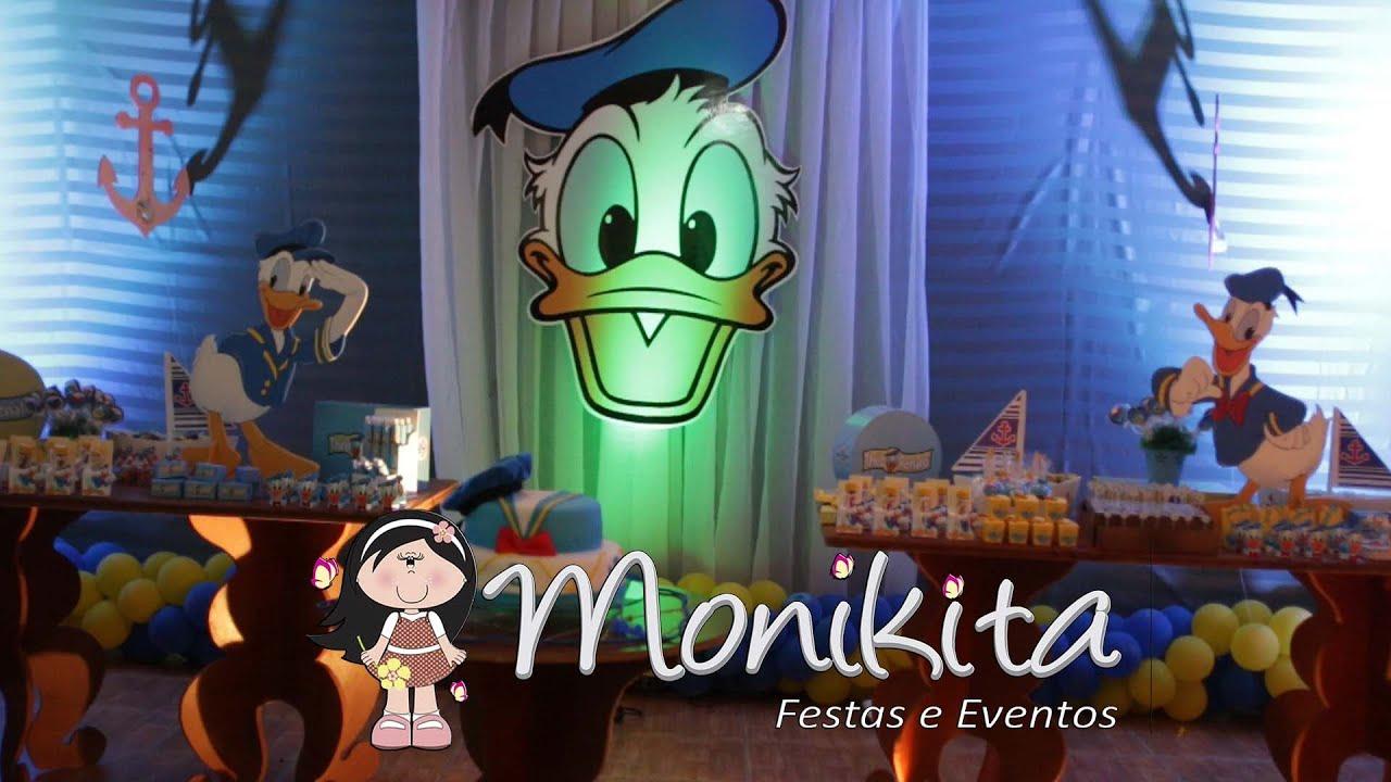 Monikita Festas e Eventos  Tema Infantil Pato Donald
