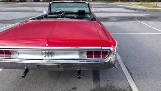 1965 Chrysler 300 convertible walk around and quick drive with 383 (mopar)