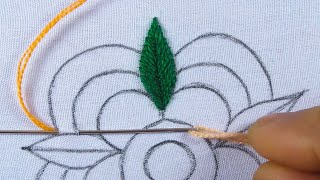Hand Embroidery Amazing Needle Work Flower Design Long Tail Bullion Knot Stitch With Easy Sewing Tut