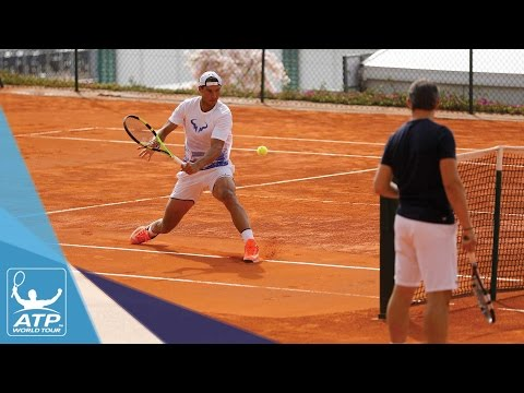 Nadal Trains Ahead Of Monte-Carlo 2017