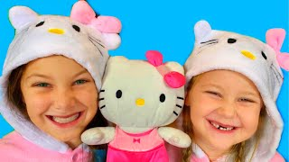 Hello Kitty Song | Three little kittens + More Nursery Rhymes & Kids Songs with Eva