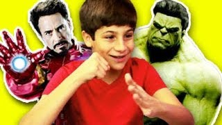 KIDS REACT TO THE AVENGERS