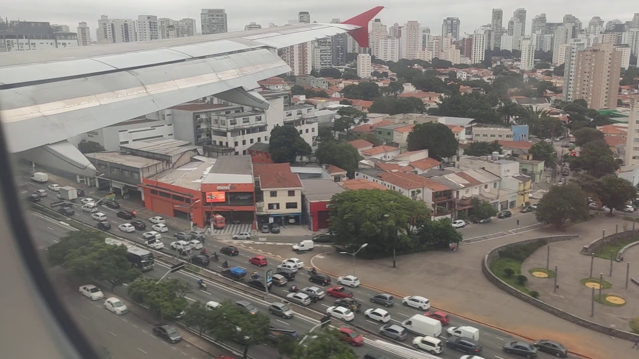 AIRBUS A320 POUSANDO  - LATAM - CONGONHAS SÃO PAULO (AIRPLANE LANDING)