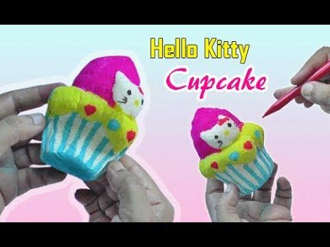 Cara Membuat Squishy Cupcake Hello Kitty How To Make