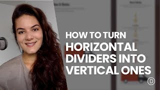 How to Turn Horizontal Dividers into Vertical Ones with Divi