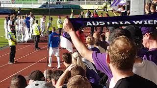 Siegfeier mit der Mannschaft in Hartberg