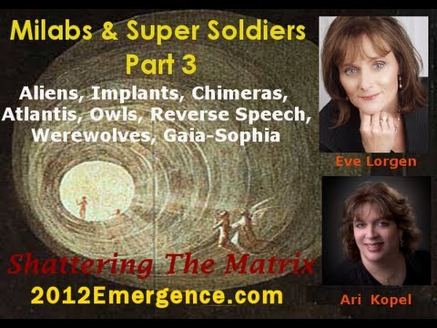 Werewolves, Aliens, Super Soldiers, Implants, Chimeras, Atlantis, Milabs - Eve Lorgen