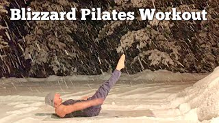 Quick Pilates Abs Flow in the Snow