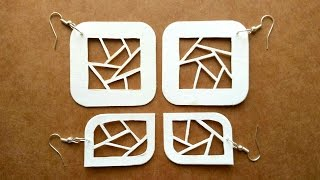 How To Make Paper Earrings | Paper Cutting Art