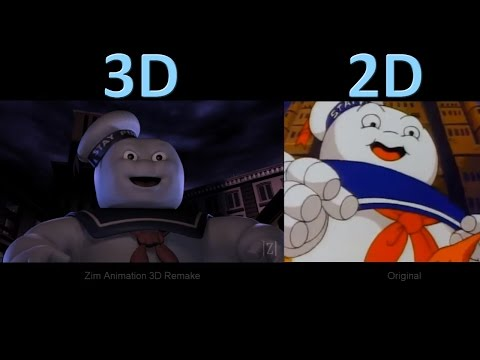The Real Ghostbusters Intro  3D Remake vs Original