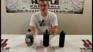 CO2 vs Compressed Air (N2) Part 3/3 - All about Paintball Air Tanks by HustlePaintball.com