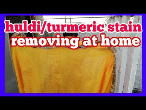 How to remove turmeric stain  in silk saree ..saare drycleane at home ( hindi )