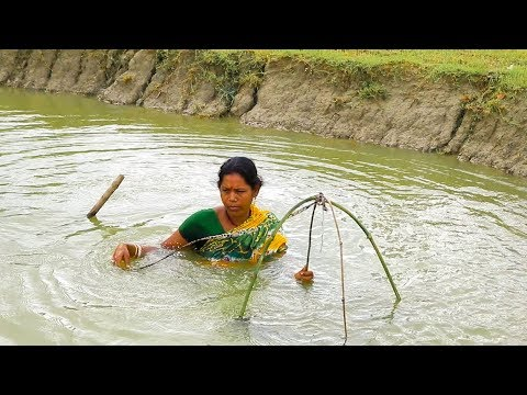 Amazing Prawn Fish Trap - Prawn Trap By Bamboo and Cloth - Unique Fish Trapping System