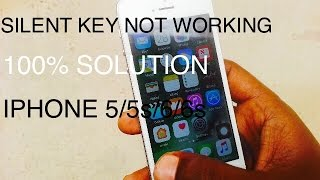 IPHONE 4/4s/5/5c/5s/6/6s SILENT KEY NOT  WORKING||| OPTIONAL METHOD TO FIX IT |||| 100% WORKING
