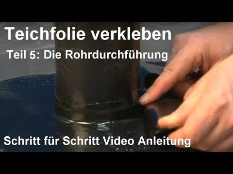 Teichfolie Kleben Anleitung Teichfolie Verkleben Teil 5 Die