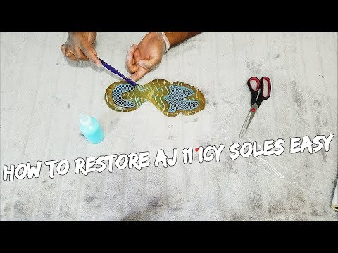 How To Restore Air Jordan 11 Icy Soles EASILY