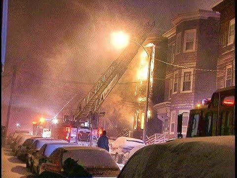 2 Melbourne St. Dorch. 2 alarm fire