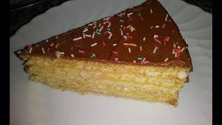Торт без выпечки вафельный торт простой рецепт торта без выпечки торт со сгущенкой тортов рецепт