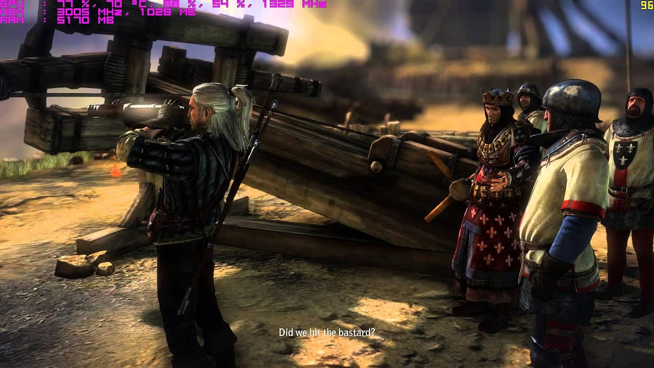 The Witcher 2 PC Gameplay with FPS counter 1080p/60FPS MSI GTX 980 i5 4670k