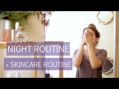 Night Routine + French Skincare Routine - Vichy Products Review