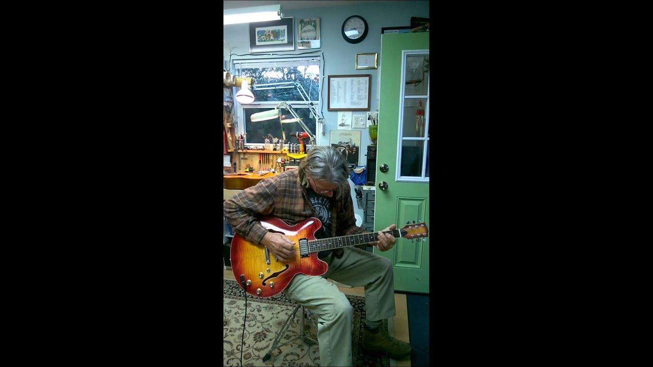 ES335 Style Cherry Burst. Split coil humbuckers. Vaughan Guitars ...