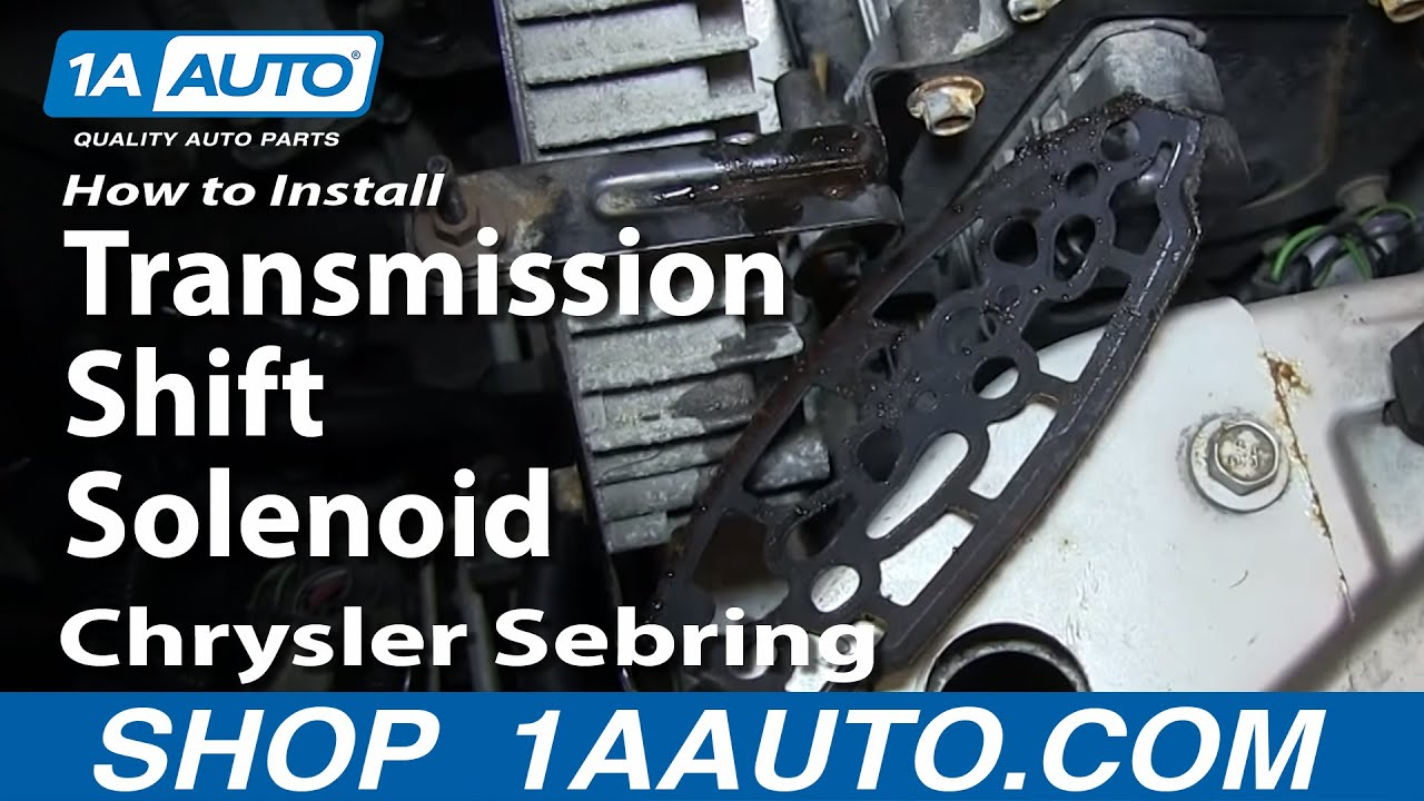 how to install replace transmission shift solenoid 2001 06 chrysler rh youtube com