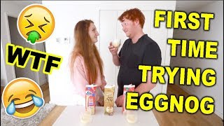 AUSTRALIANS TRY EGGNOG FOR THE FIRST TIME | TASTE TEST