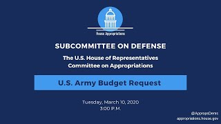 U.S. Army Budget Request for FY2021 (EventID=110684)