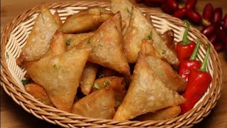 Crispy Onion Cheese Samosa By Recipes of the world