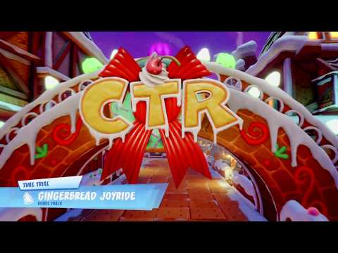 Crash Team Racing Nitro Fueled Gingerbread Joyride Time Trial