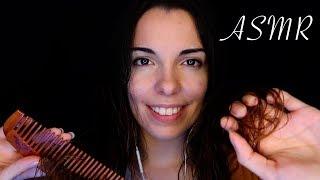 ASMR Français avec mes Cheveux 😴 Brossage - Soin - Massage - Lavage -Mains dans les Cheveux -Peigne