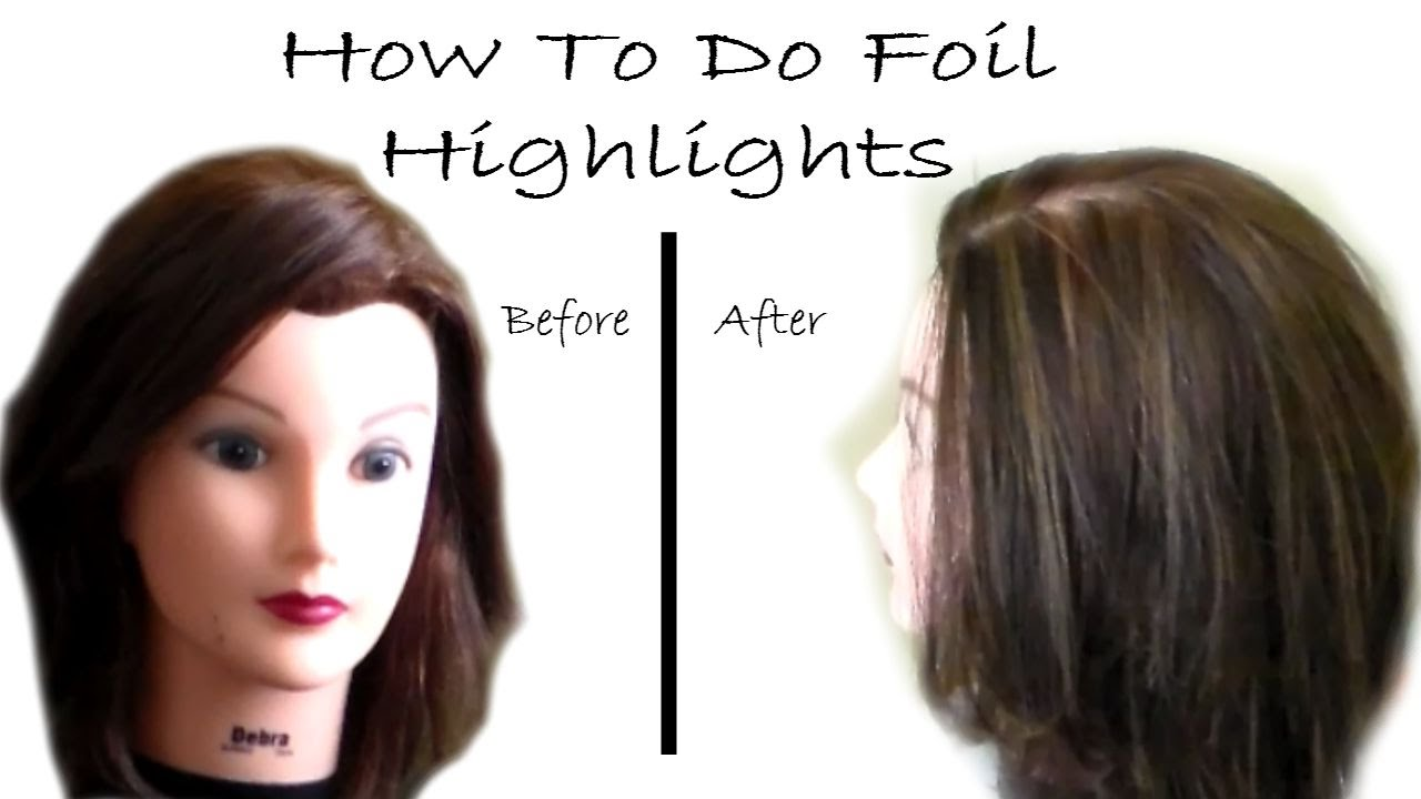 how to highlight with foil