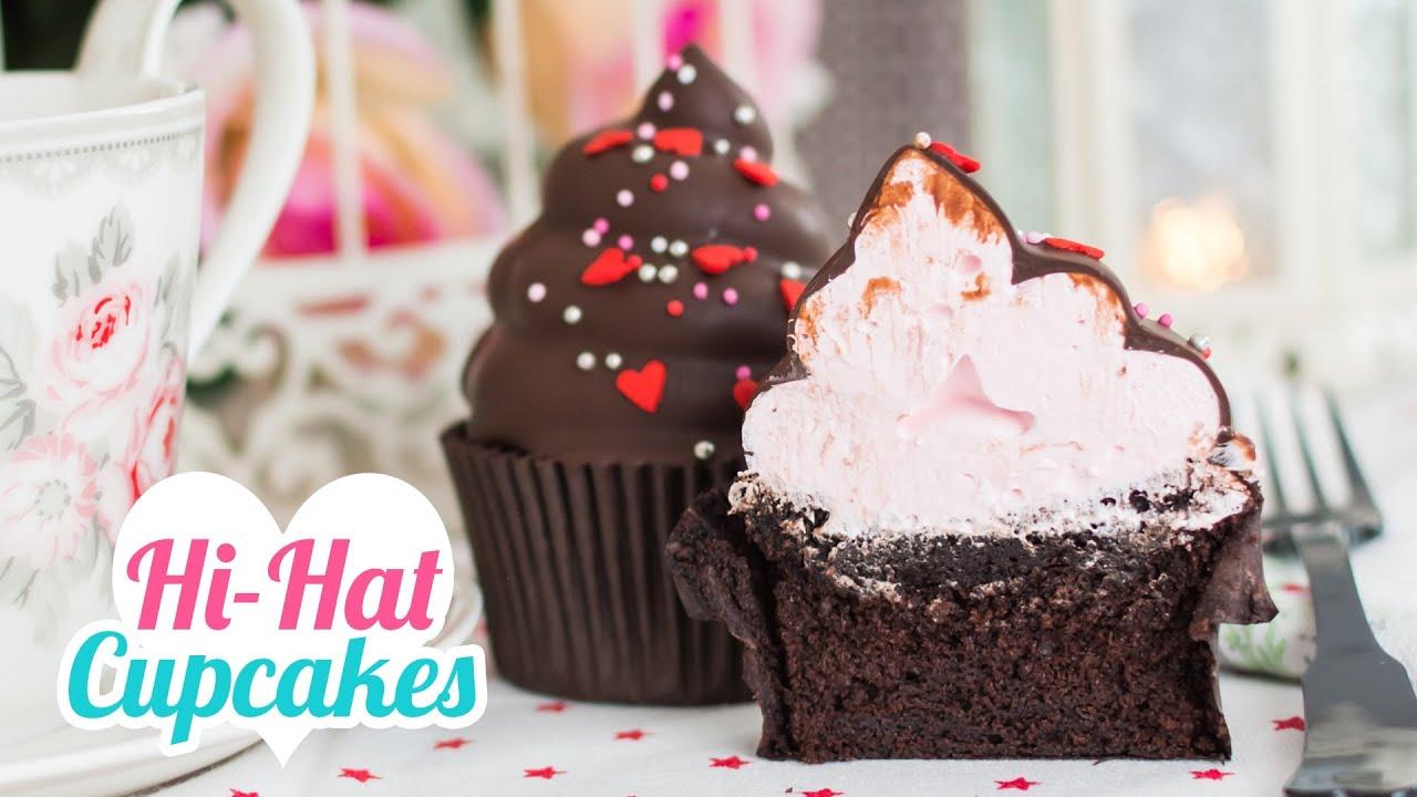 Hi-Hat Cupcakes | Merengue italiano y chocolate | San Valentín ...