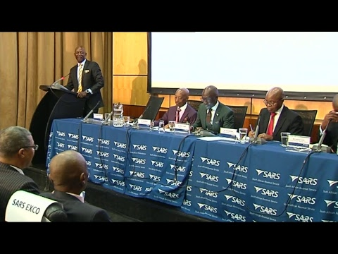 Finance Minister Malusi Gigaba and SARS Commissioner Tom Moyane announce revenue collection results