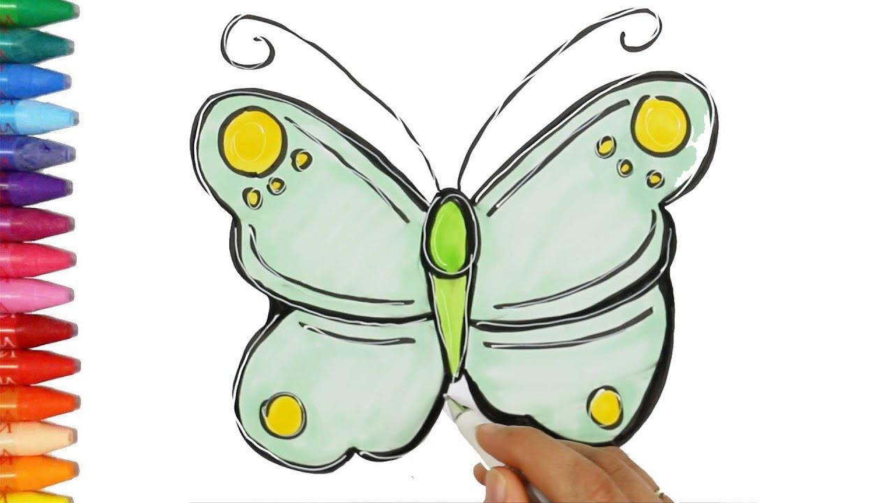 Kelebek çizim Nasıl Yapılır çocuk Ve Bebek Için çizim Ve Boyama