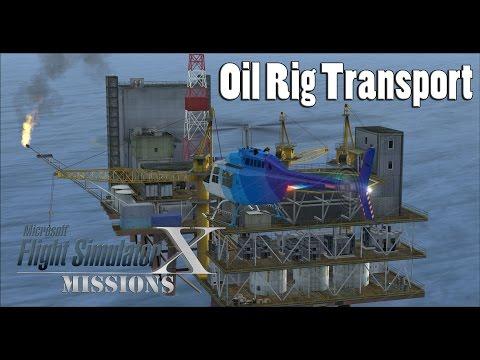 FSX/Flight Simulator X Missions: Oil Rig Transport