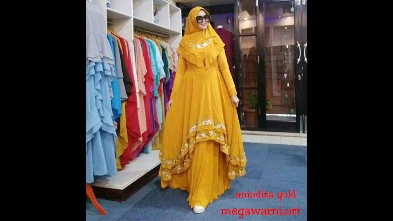 Model Baju Gamis Terbaru 2020 2020 Syari Elegan Cantik