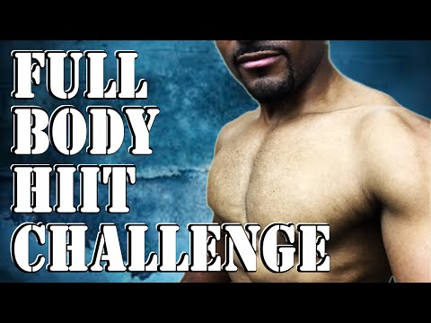 Full Body HIIT Challenge -  Fat Burning HIIT Workout - Burpees Split Workout