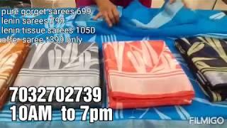 🧚🏻♀pure gorget sarees 699,lenin sarees 799,lenin tissue sarees 1050,offer saree 399 only