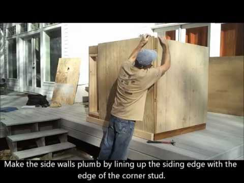 4-installing-shed-siding---how-to-build-a-generator-enclosure