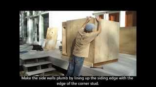 4-installing Shed Siding - How To Build A Generator Enclosure
