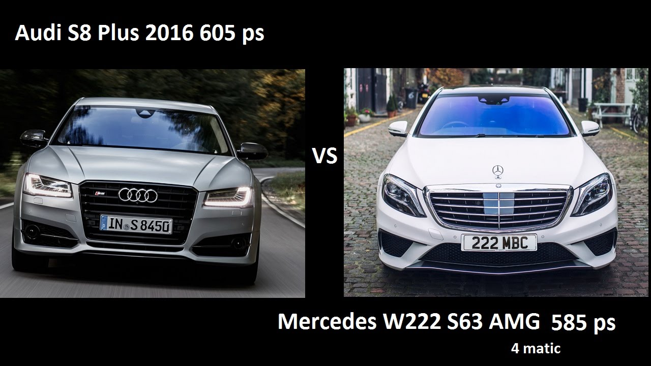 audi s8 plus 2016 vs mercedes s63 amg w222 0 250 kmh acceleration youtube. Black Bedroom Furniture Sets. Home Design Ideas