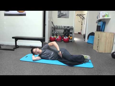 Hips hurt side sleeping? How to wake up the right muscles so you can get to sleep.
