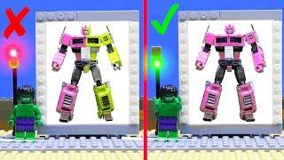LEGO wrong cars experemental! Optimus Prime Transformers repaint colors superheroes toys!